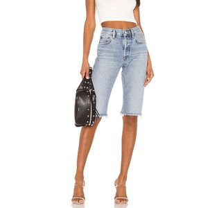 Agolde Carrie Jean Shorts Forfeit Knee Length 23